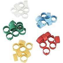 Anillas de plástico 12 mm, diversos colores, 5 x 20 uds. en blíster