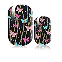 12 Pcs Nail Art Sticker Non-toxic Harmless Ultra-thin 16 Types Differents Parttens Full Decal Nail Stickers