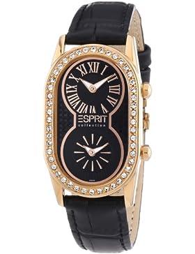 Esprit Collection Damen-Armbanduhr athena rosegold Analog Quarz Leder EL101192F07