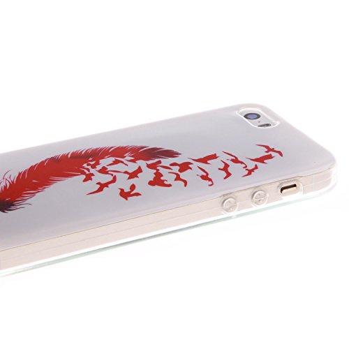 iPhone 5C Hülle,iPhone 5C Case,iPhone 5C Cove,Silber Flüssig-Serie Muster Transparent Hard Case Cover Hülle Etui für iPhone 5C,EMAXELERS Herz Bling Glitzer Glitter Shiny Sparkle Treibsand Liquid Fließ X TPU 2