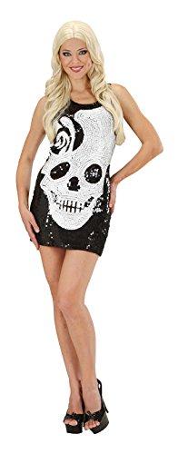 WIDMANN Disfraz Vestido Calavera Mujer Halloween -