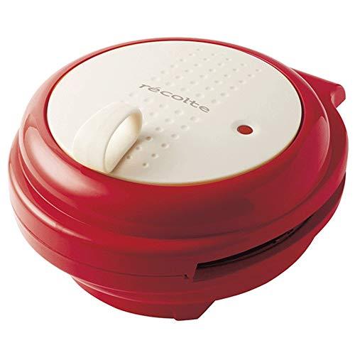 Frühstück Waffeln Multifunktionsgerät, doppelseitige Heizung für Like Te Muffin Maschine kleine elektrische Haushaltsbackform,Rot