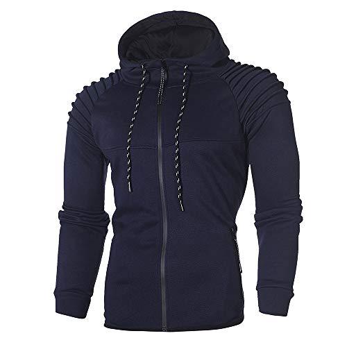 Herren Hoodie,TWBB Herbst Winter Pullover Kapuzenpullover Mit Reißverschluss Sweatshirt Schlank Lange Ärmel Mantel Outwear Hemd Bluse