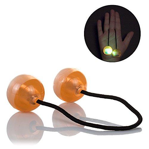 DAM - Clacker Ball, Alivia el estrés y la ansiedad para niños y Adultos. Luces LED Multicolor, 3 Posiciones Diferentes, increibles Efectos.
