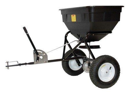 Streuwagen Zentrifugalstreueranhänger 60 Liter von Texas | Saatgutstreuer | Düngerstreuer | Handstreuwagen für Saatgut, Düngemittel und Streusalz
