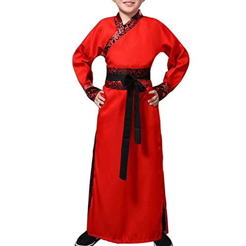 Tenthree Kinder Schwertkämpfer Ritter Kostüme - Chinesisch Stil Hanfu Bühne Show Cosplay National Traditionell Drama Retro Trachten
