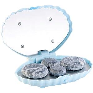 newgen medicals Massagesteine: Hot-Stone-Massage-Set mit 4 Steinen (Hot Stone Sets inkl Wärmegeräte)
