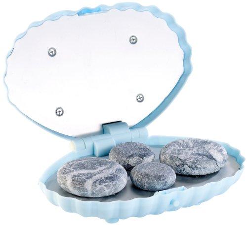 newgen medicals heiße Steine: Hot-Stone-Massage-Set mit 4 Steinen (Hot Stone Sets inkl Wärmegeräte) (Hand Stone And Massage)