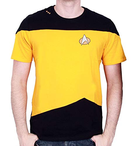 STAR TREK - T-Shirt NEXT GENERATION Yellow Uniform (L) : TShirt , ML