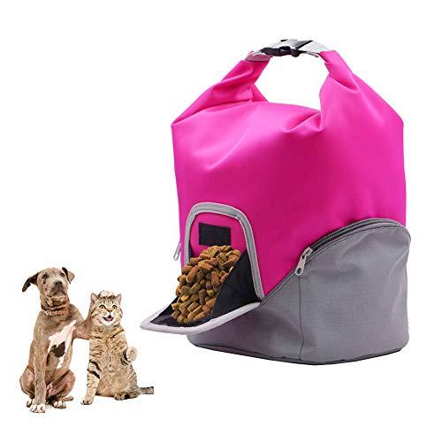 PETHOMEL Hund Träger Geldbörsen, Pet Food Paket/wasserdichte Falte Laptop Schultertasche/Große Kapazität Katze Hund Snack Tasche,Pink (Hund Zwinger Einstellbare)