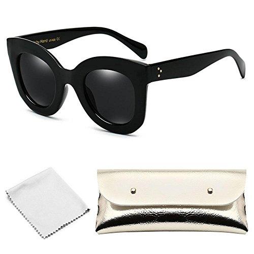 AOLVO rund Sonnenbrille Cat Eye Sonnenbrille, Lovely Fashion Eyewear Frauen Herren Vintage Weihnachten giftv für Mädchen Kostüm Zubehör von D