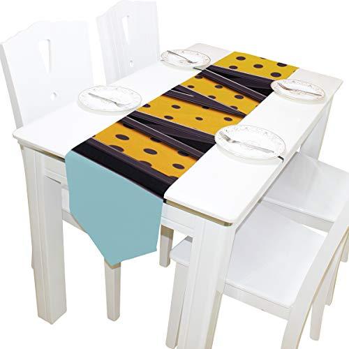 nglisch Brief M Kommode Schal Tuch Abdeckung Tischläufer Tischdecke Tischset Küche Esszimmer Wohnzimmer Hause Hochzeitsbankett Decor Indoor 13x90 Zoll ()