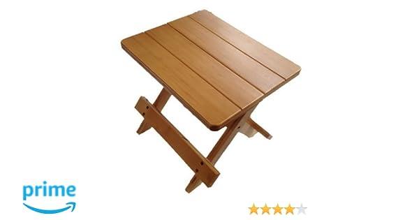 Gmmh sgabello pieghevole di legno: amazon.it: casa e cucina