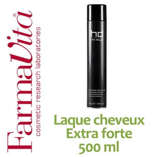 Laque cheveux professionnelle Extra forte FarmaVita - Atomiseur 500 ml