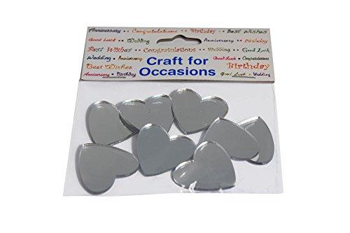 Packung mit 8 Spiegel Herz-Feier-Party Supplies Bag Filler Bevorzugungen Geschenke - (2-Pack) (Herz Spiegel)