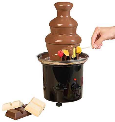 Rosenstein & Söhne Fondue: Schokoladen-Brunnen mit 2 Ebenen, 275 Watt (Schokoladenbrunnen Schokolade)