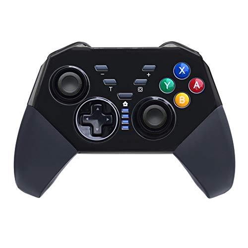 Wireless Game Controller, erweiterter Wireless Controller zum Umschalten Kompatibel mit Windows und Android, erhältlich in zwei Farben, 2019,Black