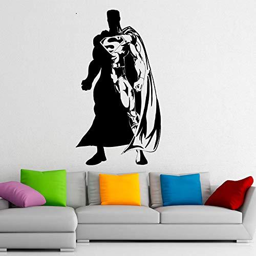 jiuyaomai Wandtattoo Vinyl Aufkleber s Interior Home Design Wandbilder Jungen Teens Schlafzimmer Dekor Tapete schwarz 84x154cm