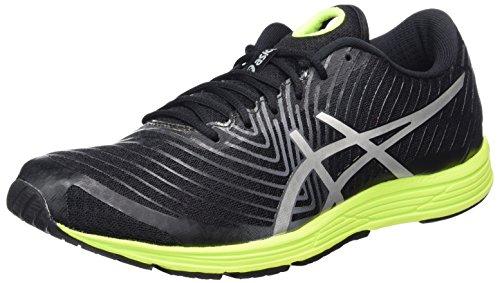 Asics Gel-Hyper Tri 3, Zapatillas de Running para Hombre, Varios Colores (Black / Silver / Safety Yellow), 42.5 EU