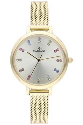Radiant selene orologio Donna Analogico al Al quarzo con cinturino in Acciaio INOX placcato RA513603