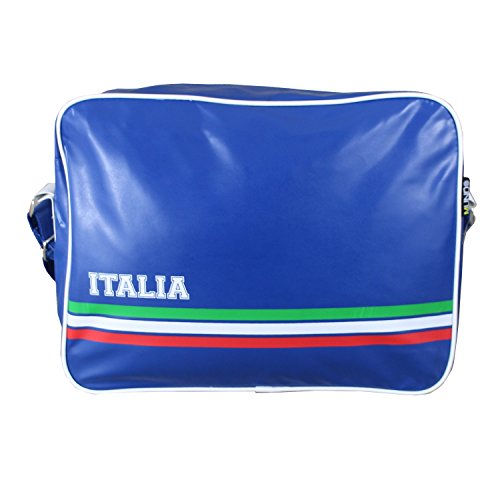 Retro Style Italia Football Sports Bag Unisex School Bag Gym Bag Flight Shoulder Cross Messenger Bag All Weather Classic Airline Flight Bag