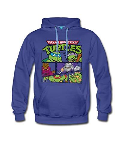 Spreadshirt TMNT Turtles Splinter Shredder Männer Premium Hoodie, XXL, ()