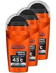 L'Oréal Men Expert Thermic Resist Déodorant Bille Homme Lot de 3