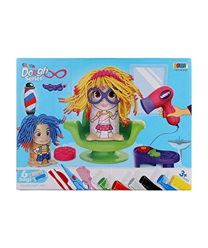 SGL Barbershop Playset Haircut Hair Style Pretend Play Toys with Dough (Clay) and Mold Kids Set