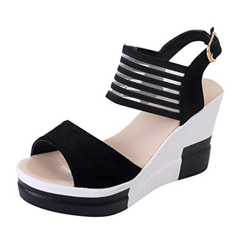 KonJin Sketchers for Women Sandals Wedges Casual Shoes Belt Buckle High Heel Shoes Fashion Fish Mouth Sandals Mid Cut Hiker Boot