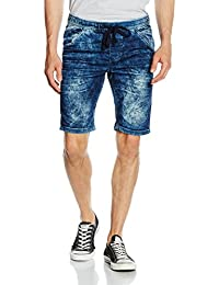 Tom Tailor Denim Aedan Slim Blue Jogger Bermuda, Short de Sport Homme