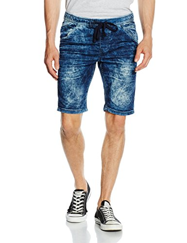 Tom Tailor Aedan Slim Blue Jogger Bermuda, Pantaloncini Uomo Blau (blue denim 1202)