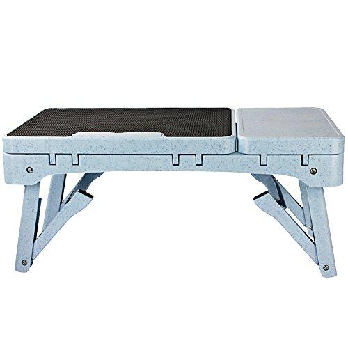 Faltender Computer-Schreibtisch / stummer / zufälliger Hitze- / Laptop-Tisch / faltender Buch-Schreibtisch / 2 Farbe wahlweise freigestellt / 53 * 37.5 * 27.5CM ( Farbe : Schwarz ) -