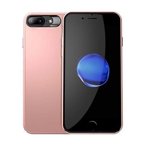 Kobwa Anti-Fingerprints Case Ultra Thin für IPhone 7/7 Plus, Shock Absorbing Kratzer-Resistant Stoßdämpfer Slim Fit Cover mit Beschichteter Oberfläche Voller Schutz Sturdy PC Case für IPhone 7/7 Plus 7Plus Rose Gold