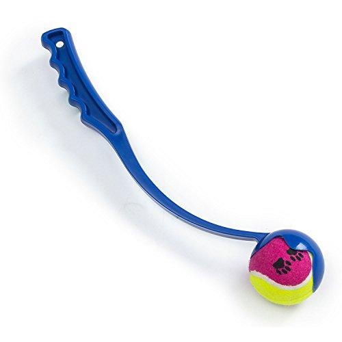 UMOI Sport Ballschleuder inklusive Ball für Haustiere | Hundespielzeug Ball für Hunde | Wurfball Spielen mit Hunden | Ball Werfen und Aufnehmen | Outdoor Spiel für Tiere