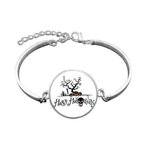 (Blisfille Handgemachte Halloween Schmuck Zeit Edelstein Armband Festival Armband Armband Herren Damen Fest)