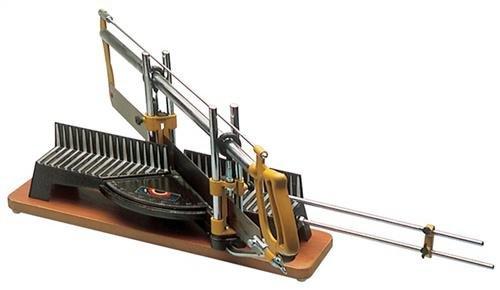 Scie à onglet, longueur de la lame : 550 mm, largeur de la lame : 45 mm, longueur de la table : 400 mm, hauteur de coupe : 120 mm