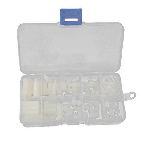 120x-m3-vite-viti-in-nylon-dado-rondella-kit-assortimento-hex-scatola-bianca-standoff