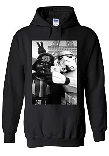 Star Wars Empire Selfie Darth Vader Stormtrooper Novelty Black Men Women Unisex Hooded Sweatshirt Hoodie-S