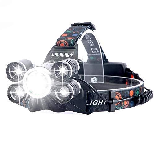 LED Stirnlampe,Super Helle Kopflampe,20000 Lumen Led Scheinwerfer Angeln Scheinwerfer T6 hellster Kopf Taschenlampe Scheinwerfer Lampe Frontale Verwenden 18650