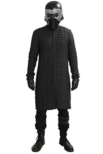 Ren Kostüm Material Kylo (Kylo Inner Tunika Kostüm Cosplay Aktualisierte Version Deluxe Erwachsenes Mantel Kleidung für Halloween)