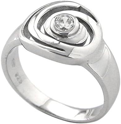 Bijoux pour tous anillos Mujer plata Plata de ley (925/1000) circón redondo