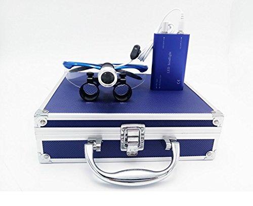 First Dental-420x Lupe mit LED-Fernglas für medizinische Zwecke, 1-fache- und Aluminium, silber,...