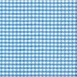 60 Paper Napkins Vichy Square Blue, 25 x 25 cm Cocktail Napkin, Tissue, Napkin, 3 ply, Quality Brand Napkins Tissue for Celebration, Party, Event, Birthday, Christmas