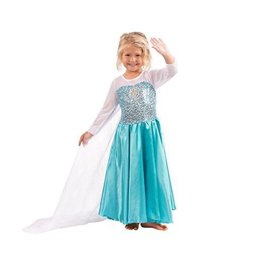 Die Eiskönigin - Völlig Unverfroren Elsa Prinzessin Kostüm Verkleidung Schneeprinzessin Party Cosplay Kleid (9-10 Jahre)