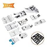 XCOZU Nähmaschinen Nähfuß -11 Stück Nähfuß Zubehör Set,Nähfüsse für Brother Janome Singer Toyota Nähmaschinen