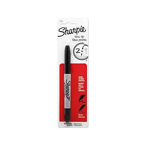 sanford-32101pp-sharpie-twin-tip-permanent-marker-1-pkg-noire