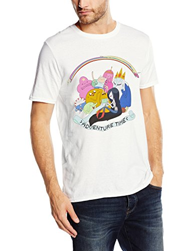 Adventure Time - Adventure Time - Rainbow Cast, T-shirt Uomo, Bianco (White), X-Large