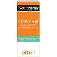 Neutrogena Face Cream, Visibly Clear, Spot Proofing, Oil-free Moisturiser, 50ml