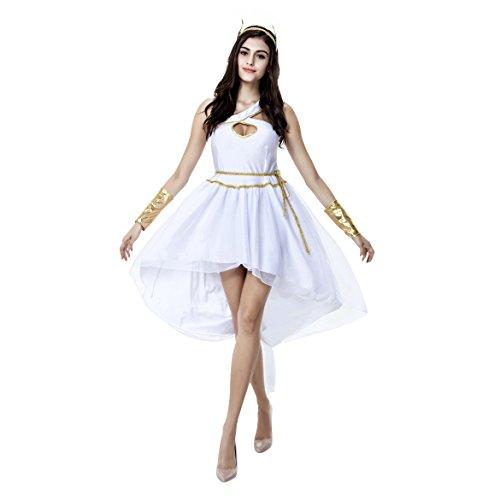 Sexy griechische Göttin erwachsenes Kostüm-Abendkleid-Kostüm Halloween - White