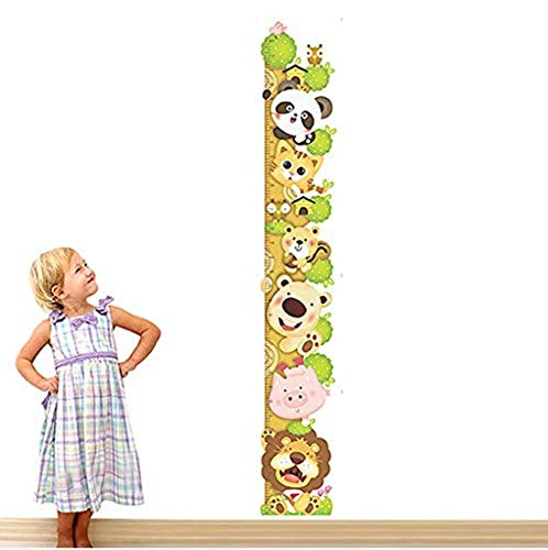 Selbstklebender Wandaufkleberkids Child Height Chart Measure Wall Stickers Animals Climb Tree Vinyl Wallpaper House Decorative Decals Removable - Chart House-tv